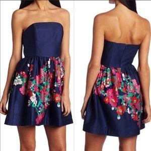 Lilly Pulitzer Lottie Navy Floral Dress Size 0